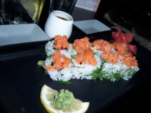 Kyrgyz sushi with dill