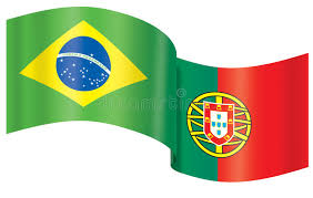 Brazilian and Portuguese flags