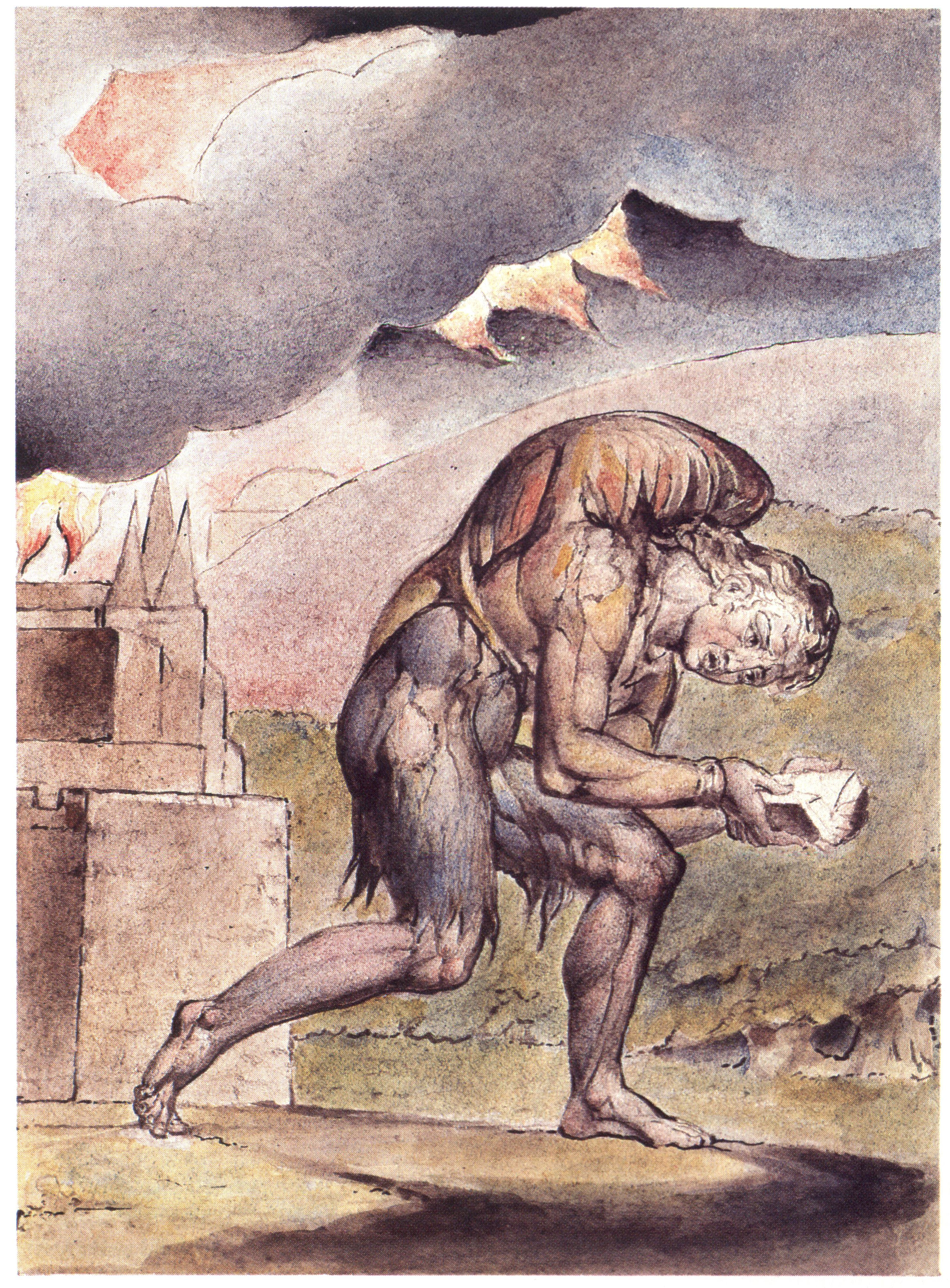 William Blake - John Bunyan - Cristian Reading in His Book